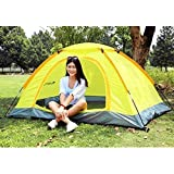 VelKro Polyester Pongee Portable Waterproof Tent for 4 Person with Bag (Multicolour, Large)