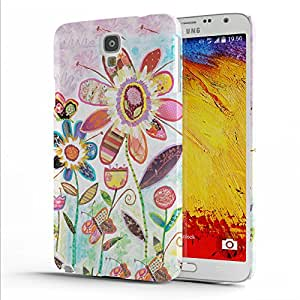 Koveru Designer Printed Protective Snap-On Durable Plastic Back Shell Case Cover for Samsung Galaxy Note 3 Neo - Wild Garden