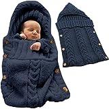 Tomwell Bébé Fille Garçon Mignon Hiver Gigoteuses Confortable Sac de Couchage Tricoter Double Couche Multicolore Nouveau-né 0-12 Mois