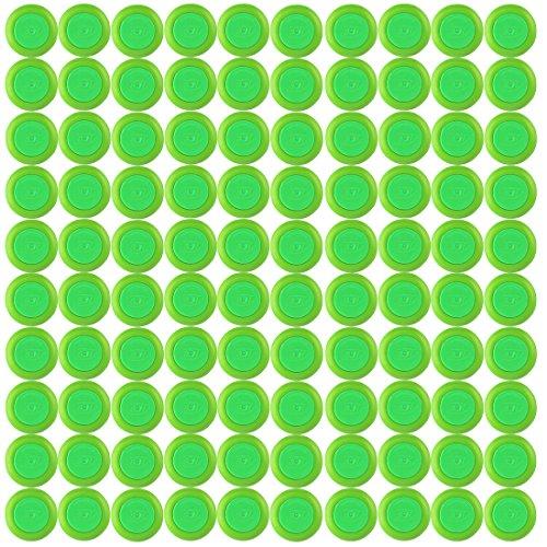 Dart Nachfüllpack, iTECHOR 100 Stück Refill Discs Disks Bullet Darts Spielzeugpistole für Nerf Vortex Reserve Blaster Praxis Nitron Vigilon Pronton (Disc Nerf)