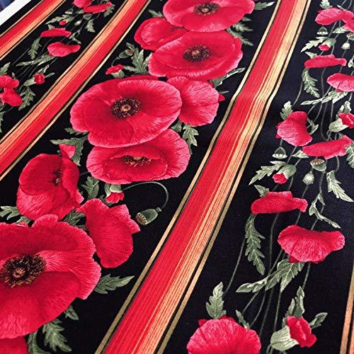 Timeless Treasures Tissu Coquelicots de 0,5 m 100% Coton
