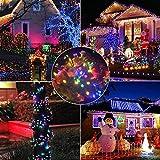 Samoleus 200 LED 22M Luci Della Stringa Solare Del, Catene Luminose da Esterno IP44 Impermeabile per Di Natale Luci, Matrimonio,Festino (Colore-200 LED 22M)