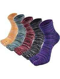 PUTUO Calcetines Dedos Hombres Calcetines de Deportes de Algodón, Hombres Cinco Calcetines del dedo del