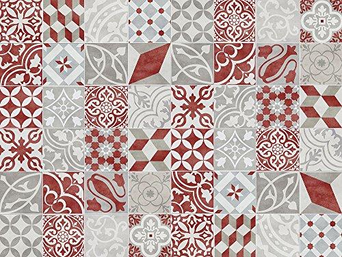 VINILIKO, Alfombra de vinilo, Antique, Rojo, 100x133 cm