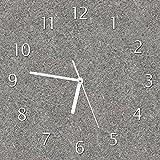 Wallario Glas-Uhr Echtglas Wanduhr Motivuhr • in Premium-Qualität • Größe: 30x30cm • Motiv: Muster Grauer Marmor Optik -Granit - Marmoriert