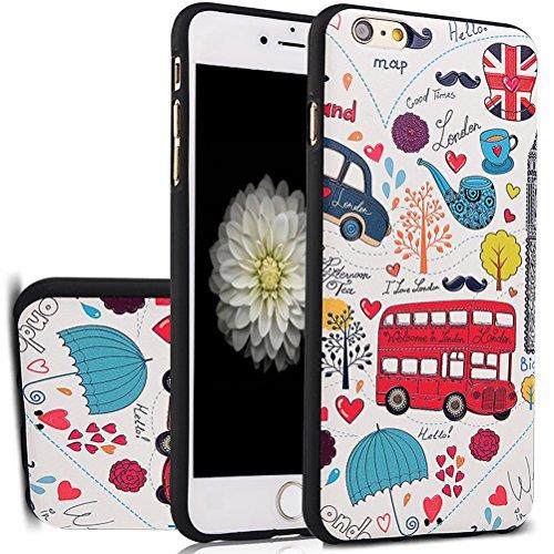 "MOONCASE iPhone 6S Hülle, [Skull] Kreativ Bunt Muster Design Gel TPU Schutzhülle für iPhone 6 / 6S 4.7"" Handyhülle Silikon kratzfeste stoßdämpfende Case Pattern"