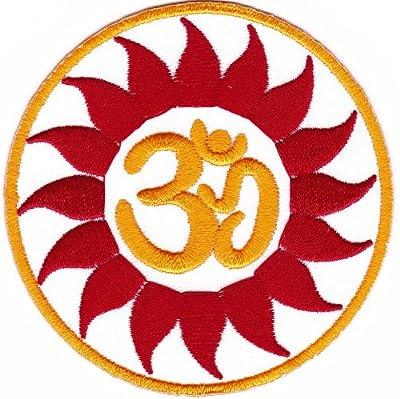 Aufnäher Bügelbild Aufbügler Iron on Patches Applikation Sonne Indien Nepal Yoga Tibet