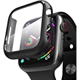 PZOZ Compatible with Apple Watch Series 6/5/4/SE Screen Protector 44mm,iWatch PC Case PET Film All-around Bumper…