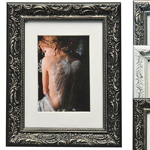 WOLTU BR9767 Cadres photo, collage de photo, cadre en bois, en carton arrière, façade en verre, pour agir et suspendus dans le paysage et le mode portrait, conception baroque,30x40 cm,Noir