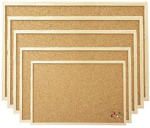 40x60 cm Pinnboard mit einem Holzrahmen, Korktafel, Korkpinnwand, Pinnwand, 40x60 cm