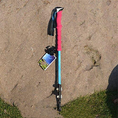 B-appliance Lock (Aluminum alloy cork handle Alpenstock,Lightweight Height Adjustable Walking Stick,outdoor portable cane,Telescopic external lock old man cane,Used in mountain climbing/skiing/hiking/play,B)