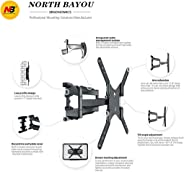 Full Motion TV Wall Mount for Most 32-55 Inches LED LCD Computer Monitors and TVs,Adjustable Tilting, Rotating.Weight up to 80lbs by NB NORTH BAYOU(P5)