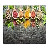 Zeller 26282/piastra di cottura, in vetro Spices