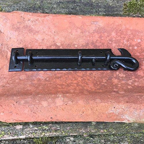 Antikas - Bolzenriegel - Flachriegel Schubriegel Antik Riegel Verschluss Tor schwarz