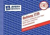 Avery Zweckform 1735 Quittung  weiß/gelb