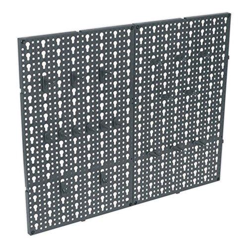 Sealey - coppia di pannelli forati portautensili, da muro, materiale composito