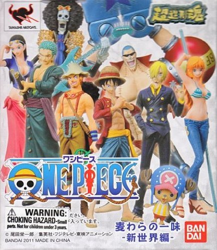 "One Piece Straw Hat Pirates New World Arc Figures w/ Base-4"" Rorona Zoro 3"