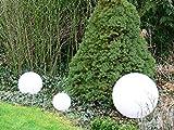 Kugelleuchte Gartenlampe Außenleuchte Marlon im 3er Set Drm. 20+30+30cm Außenlampe Kugellampe mit Erdspieß, E27, Dekoleuchte Gartenbeleuchtung