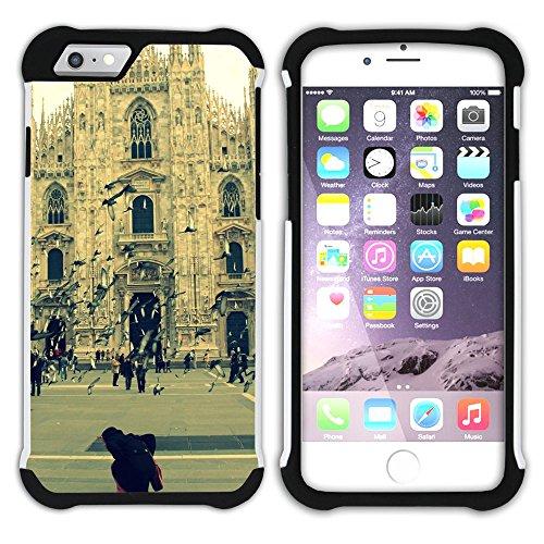 Graphic4You Mailand Italien Postkarte Aussicht Hart + Weiche Kratzfeste Hülle Case Schale Tasche Schutzhülle für Apple iPhone 6 Plus / 6S Plus Design #9
