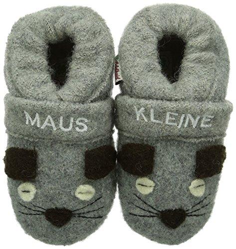 Adelheid Baby Mädchen Kleine Maus Babywollschuh Krabbel- & Hausschuhe, Grau (mausgrau 940), 21/22 EU
