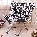 AJZXHEEinfach und kreativ Balkon Klappstuhl, Schmetterling Stuhl, Radar Stuhl, Freizeit Stuhl, (Farbe : Zebra)