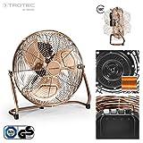TROTEC TVM 13 Bodenventilator Kupfer Design Ventilator/Windmaschine | 3 Geschwindigkeitsstufen | 44 Watt Leistung | Durchmesser 35 cm