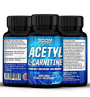 Acetyl L-Carnitine 500mg | Strong Acetyl-Carnitine Capsules | Powerful Nootropics | 120 Powerful Energy Boosting Capsules | FULL 4 Month Supply | Improve Athletic Performance | Enhance Cognitive Function | Safe And Effective | Best Selling L-Carnitine Pil