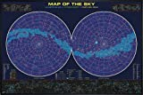 Close Up Sternenkarte Poster Map Of The Sky (62x93 cm) gerahmt in: Rahmen schwarz