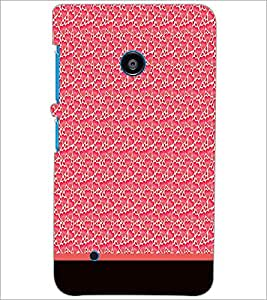 PrintDhaba Heart Pattern D-1905 Back Case Cover for NOKIA LUMIA 530 (Multi-Coloured)