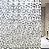 Velimax Film Intimité Décoratif pour Fenêtre Autocollant Electrostatique Film Vitrage Occultant Anti-Solail Anti-UV 90cm x 200cm