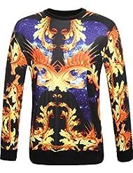 SSLR Sweat-shirts de Col ras du cou Imprimé - Homme