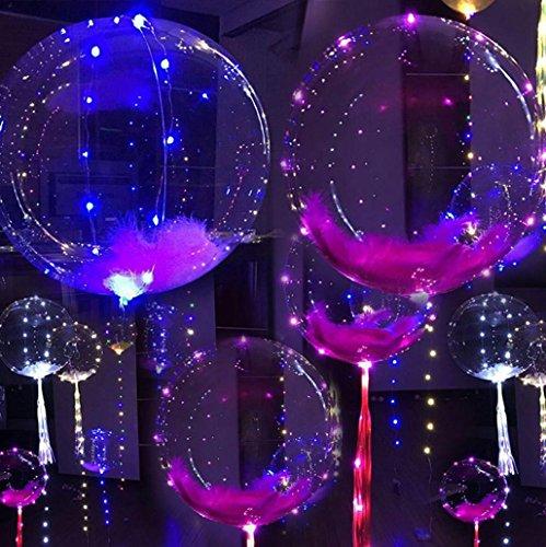 Tefamore Luminoso Globo Led Globo de Boda de Fiesta de Decoración de Burbuja Redonda - 20inch