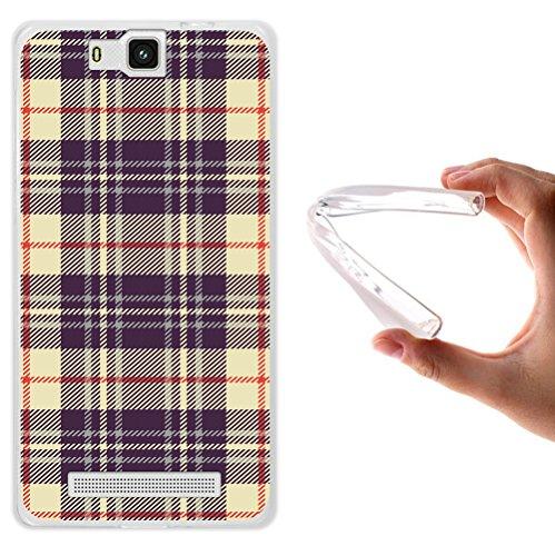 WoowCase Cubot H2 Hülle, Handyhülle Silikon für [ Cubot H2 ] Kreuz Schottenkaro Material Handytasche Handy Cover Case Schutzhülle Flexible TPU - Transparent