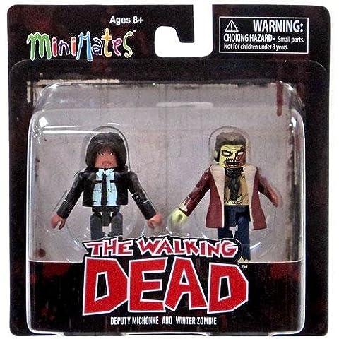 The Walking Dead Minimates Series 6 Deputy Michonne and Winter Zombie Mini Figuras
