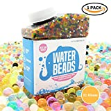 1 X Pack ~ Water Beads Rainbow Mix ~ Vibrant Colours ~ 9oz (40,000 beads) for Orbeez Spa Refill, Sensory Toy, Kids Bath Toy, Vases, Plants, Wedding and Home Decoration ~ 12-18mm Diameter