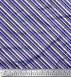 Soimoi Lila Seide Stoff Diagonale Streifen Dekor Stoff