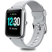 Women's/Men's Smartwatch for Android/iOS, Fitness Wristband, Full Touchscreen, 5 ATM Waterproof, with Heart Rate Monitor…