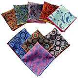 Weishang Mens Printing patterns Pocket Square Handkerchief Wedding Party(pack of 9) (Style 6)