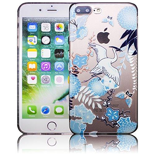 Apple iPhone 7 Plus - Design 10 Silikon Crystal Kristall clear transparent durchsichtig Schutz-Hülle Hülle weiche Tasche Cover Case Bumper Etui Flip smartphone handy backcover Schutzhülle Handyhülle t Design 10