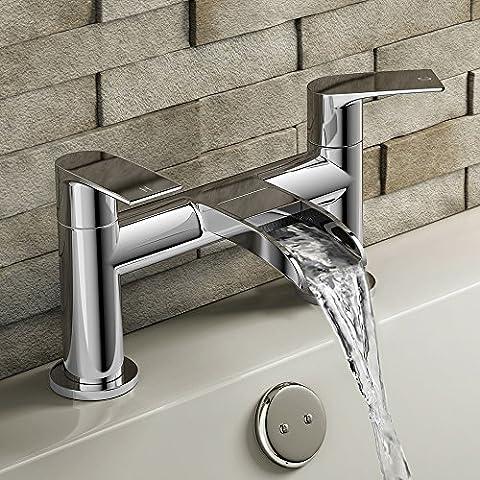 Cascade de mitigeur de baignoire avec robinet à levier pour salle de bain Style moderne Chromé