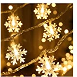 PESCA Snowflakes Light 20 LED, Decoration for Birthday, Festival, Festive Occasion, Wedding, Party for Home, Patio, Lawn…