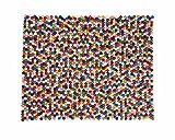 Sukhi Alisha: rechteckig Multi-Colour Pinocchio Rectangle Teppich Filz-Balls (Weltweit (170cm x 240cm / 5' 6.9'' x 7' 10.4'')