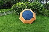 Doule Layer Golf Umbrella Big Size Long Handle Umbrella Commercial Style Wind-resistant ( Color : Deep blue orange )