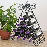 DanDiBo Weinregal Pyramide aus Metall für 10 Flaschen Kalina Flaschenständer Regal
