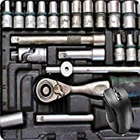 BGLKCS Mouse Pad Fabric Topped Rubber Backed Tools Tool Box Wrench Socket Pliers Ratchet