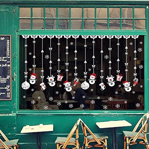 Preisvergleich Produktbild Saingace® Weihnachtssticker,Weihnachten Schneeball Removable Startseite Vinyl-Fenster-Wand-Aufkleber-Abziehbild-Dekor Wandaufkleber Wandtattoo Wandsticker