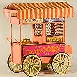 Pink Retro Metall Collectible Pop Corn Auto Deko mit Beleuchtung–Shabby Vintage Mobile Pop Corn Maschine Auto Spardose–Kantine Mobile Van–Retro dekorative Sammlerstück–Industrie Decor