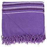 Homescapes waschbare Tagesdecke Sofaüberwurf XXL Morocco lila 225 x 255 cm Überwurfsdecke Bettüberwurf 100% reine Baumwolle