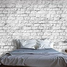 Fotomurale - Tapisserie brique blanche ...