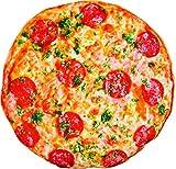 Cuscino a forma di pizza gigante, morbido, il cuscino sembra realmente una pizza, per copriletto,...